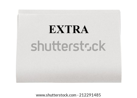 Headline.Isolated on white.