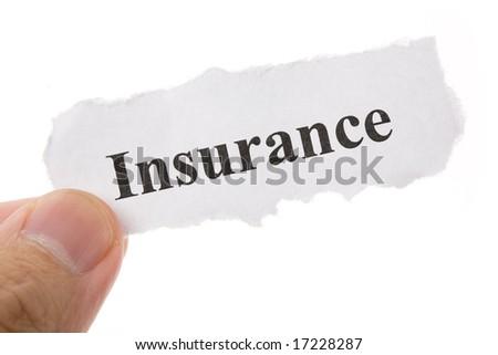 Headline of Insurance, Life; Health, car, travel,  for background - stock photo