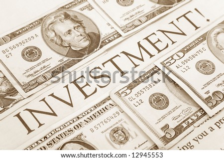 headline of investment and us dollars