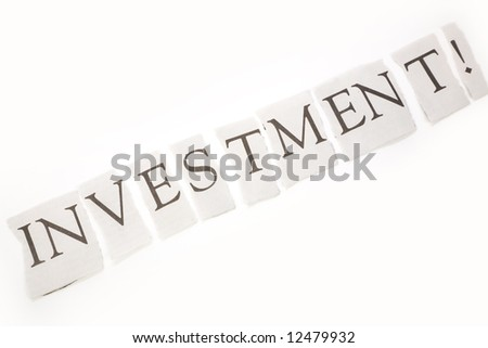 headline of investment with white background