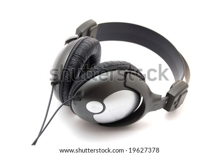 headphone isolated on a white