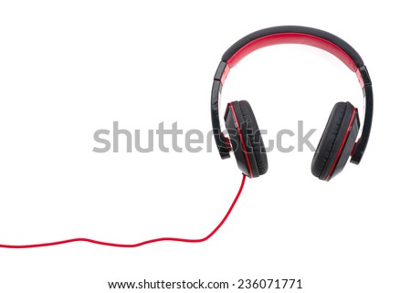 Headphone isolated on white background - stock photo