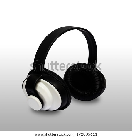 headphone isolated on white background,clipping path.