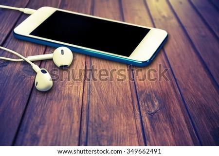 Headphones. - stock photo