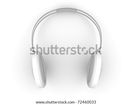 Headphones. 3D rendered Illustration. Isolated on white.