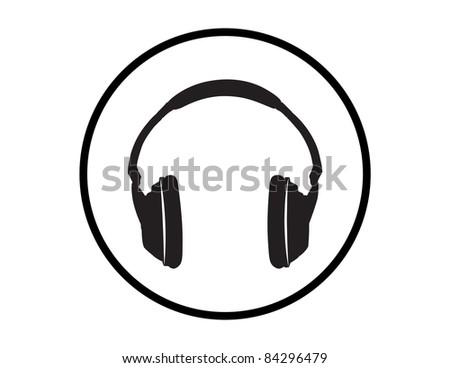 Headphones Illustration - High Resolution JPEG Version. (vector version also available). - stock photo