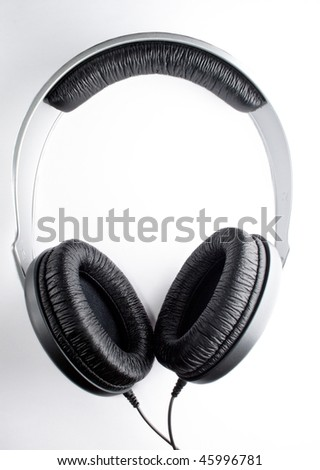Headphones isolated on the white background - stock photo