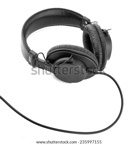 headphones isolated on white background