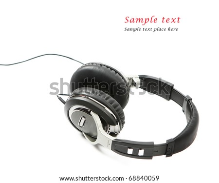 Headphones isolated on white background. Shallow DOF