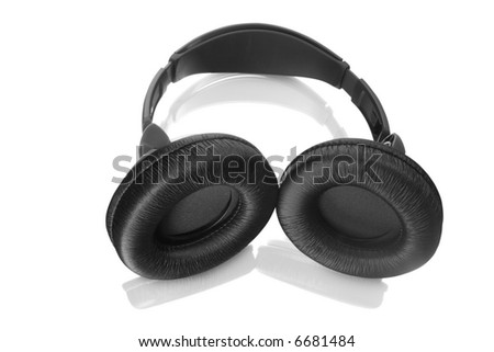 Headphones isolated on white. Contains clipping path