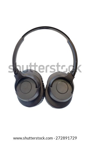 Headphones isolated under the white background