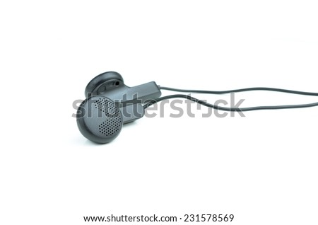 headphones on a white