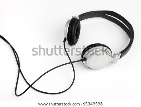 headphones on a white - stock photo