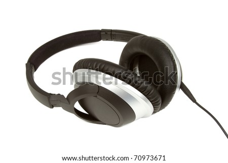 Headphones on a White Background - stock photo