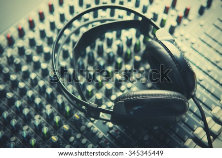Headphones on soundmixer