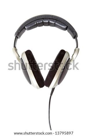 Headphones with clip path - stock photo