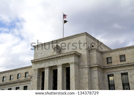 headquarter of the Federal Reserve in Washington, DC, USA,FED - stock photo