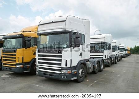 Heads of Semitrailer Trucks - stock photo
