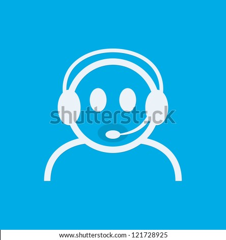 Headset Contact. Live Help. Support icon. - stock photo
