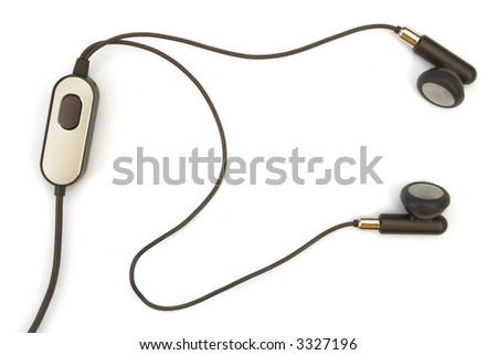 Headset (hands free), isolated on white background - stock photo