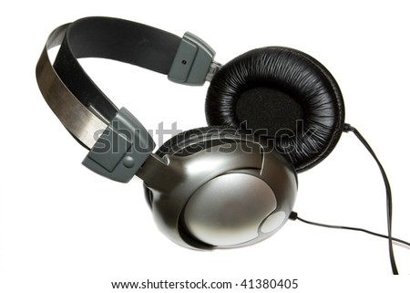 headset isolated on white