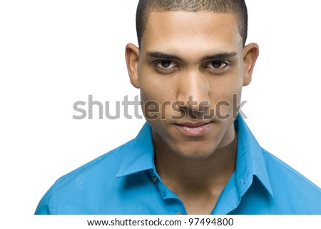 Headshot of a African American male - stock photo