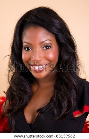headshot of a pretty young African American woman.