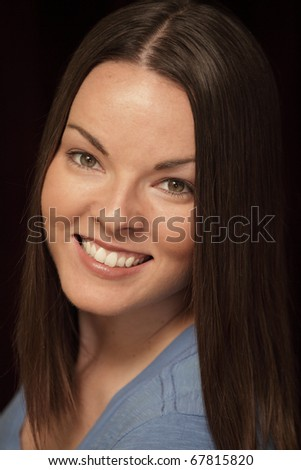 Headshot of an attractive woman in her thirties