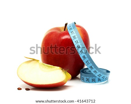 Health and Fitness and Apples - stock photo