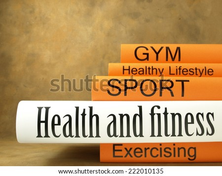 Health and fitness (book reviews) - stock photo