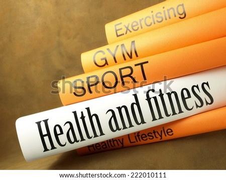 Health and fitness (book series) - stock photo