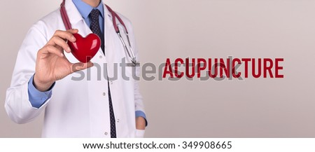 Health and Medical Concept: ACUPUNCTURE - stock photo