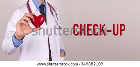 Health and Medical Concept: CHECK-UP - stock photo