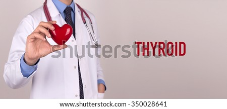 Health and Medical Concept: THYROID - stock photo