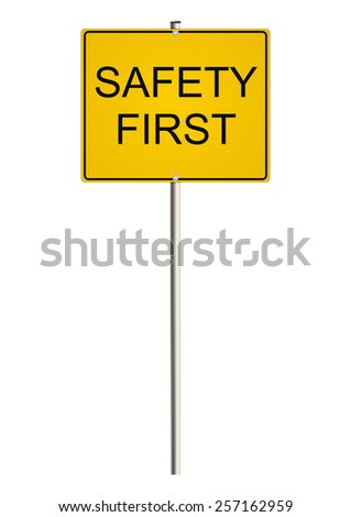 Health and safety. Road sign. Raster.