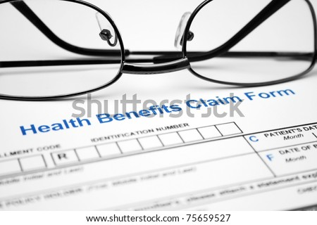Health benefit claim form - stock photo