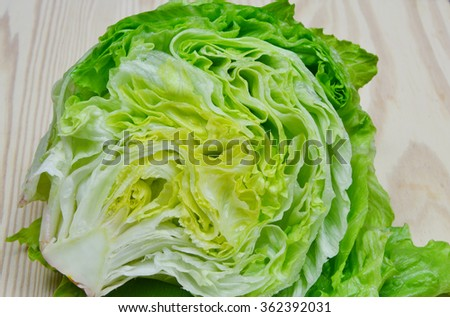 Health Benefits of Lettuce  - stock photo
