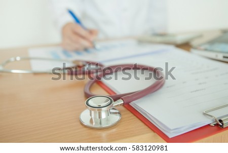 Selective Focus Health Care Costs Concept Stock Photo 520102780
