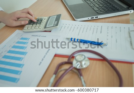 Health Care Costs Concept Picture Hand Stock Photo Royalty Free