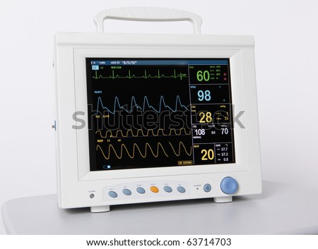 Health care portable monitoring equipment - stock photo