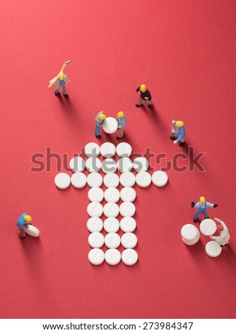 Health Care System Growth Working Men Stock Photo 273984347