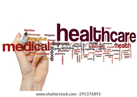 Health care word cloud concept - stock photo