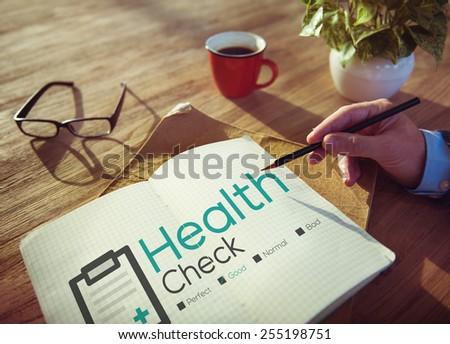Health Check Diagnosis Medical Condition Analysis Concept - stock photo