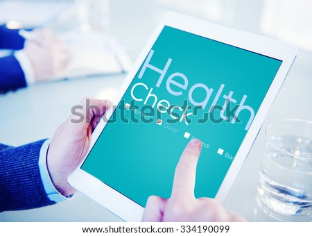 Health Check Insurance Check Up Check List Medical Concept - stock photo