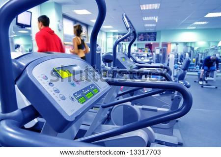 health club in blue - stock photo