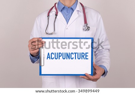 Health Concept: ACUPUNCTURE - stock photo