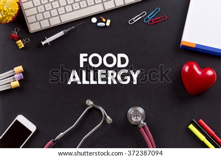 Health Concept: FOOD ALLERGY