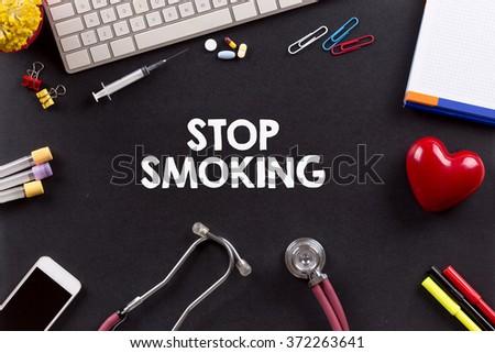 Health Concept: STOP SMOKING - stock photo