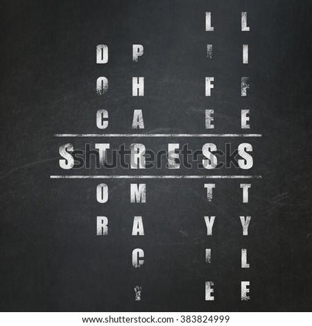 Health concept: Stress in Crossword Puzzle - stock photo