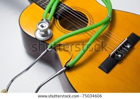 Health concepts. Music has healing ability to all the creature in the world. - stock photo